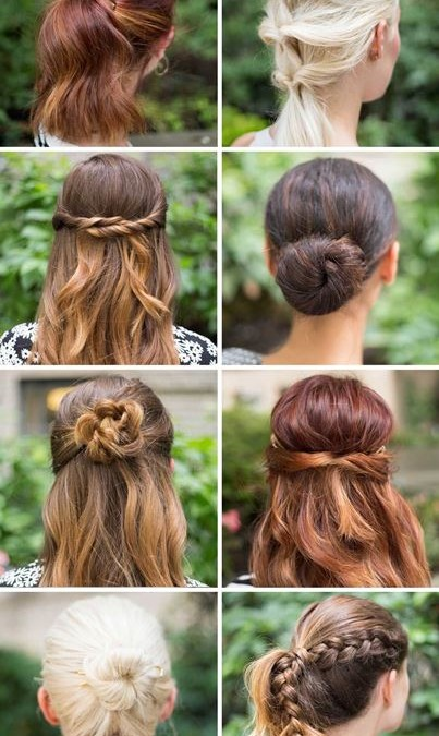 15 Super easy Hairstyles to try!