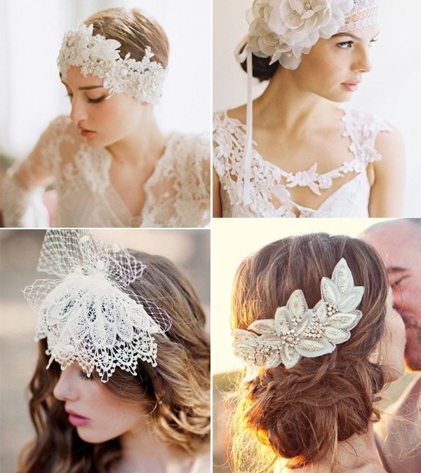 25 Pretty Lace Bridal Hairpieces & Headpieces for Your Wedding Hairstyles