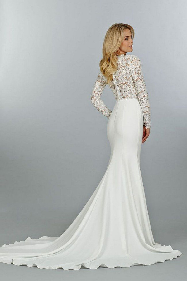 sexy-mermaid-wedding-dresses-with-long-lace-sleeves